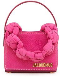 Jacquemus Le Petit Sac Noeud Leather Top-handle Bag - Pink