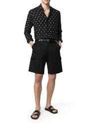 Dolce & Gabbana High-rise Cotton Cargo Shorts - Black