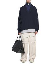Balenciaga LAYERED TRACKSUIT V-NECK - Blu
