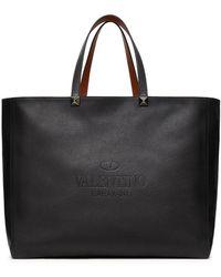 Valentino Garavani Rockstud Identity Tote Bag - Black