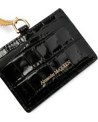Alexander McQueen - Skull Chain Cardholder - Lyst