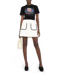 Miu Miu Contrast-trim A-line Skirt - Multicolor