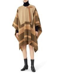 Chloé Hood In Graphic Wool - Multicolor