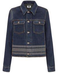 Dior Haute Couture Jacket In Denim - Blue