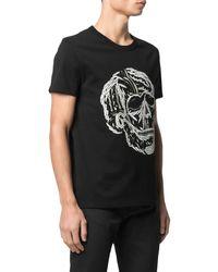 Alexander McQueen Embroidered Skull-print T-shirt - Black