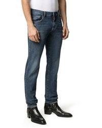 Dolce & Gabbana Jeans skinny a vita media - Blu