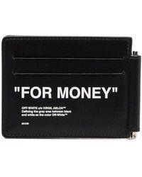 Off-White c/o Virgil Abloh Portafoglio bi-fold For Money - Nero