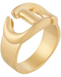 Dior Navy Cd Ring - Metallic