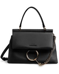 Chloé Small Faye Soft Top Handle Tote Bag - Black