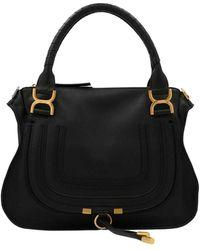 Chloé Marcie Medium Tote Bag - Black