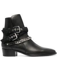 Amiri Chain Detail Boots - Black