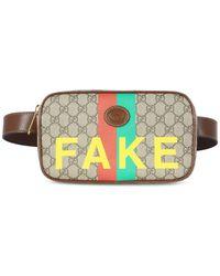 Gucci - GG Supreme Fake/not Belt Bag - Lyst