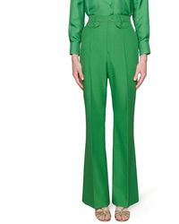 Gucci Flared High-waist Pants - Green