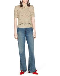 Dior Short Sleeve Sweater - Multicolor