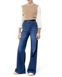 Chloé Bell Jeans With Wide Leg - Blue