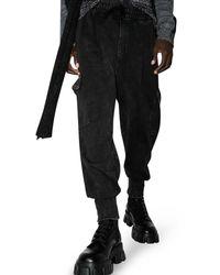 Dolce & Gabbana Acid-wash Cargo Track Pants - Black