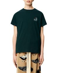 Loewe Anagram T-shirt In Cotton - Green