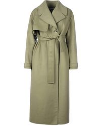 Jacquemus Coat With Belt - Green