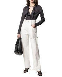 Bottega Veneta Ruffle Collar Blouse - Black