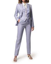 Tagliatore Linen Three-piece Suit - Blue