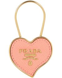 Prada Heart Logo Keyring - Multicolour