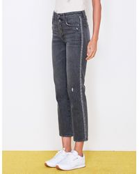 Sundry Trim High Rise Relaxed Straight Jeans - Multicolor
