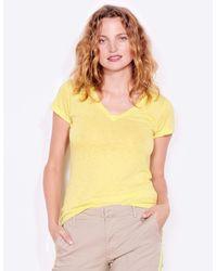 Sundry V Neck Tee - Yellow