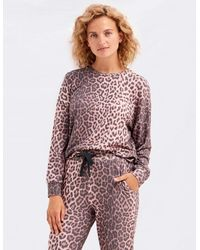 Sundry Animal Print Sweatshirt - Pink