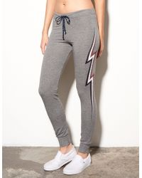 Sundry - Lightning Bolt Skinny Sweatpants - Lyst