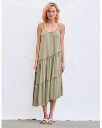 Sundry Asymmetrical Tiered Dress - Multicolor