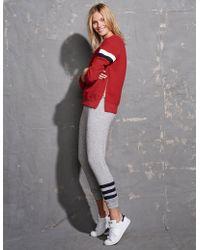 Sundry | Double Zip Stripes Sweatshirt | Lyst