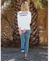 Sundry - American Woman V-neck Longsleeve - Lyst