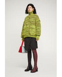 Sunnei Acid Green Padded Knit Sweater