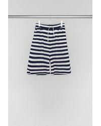 Sunnei White & Blue Bermuda Shorts