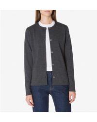 Sunspel - Women's Vintage Wool Cardigan In Charcoal Melange - Lyst