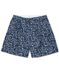 Sunspel - Men's Liberty Printed Cotton Shorts In Blue Bloom - Lyst