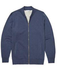 Sunspel - Men's Cotton Loopback Zip Jacket In Navy Melange - Lyst