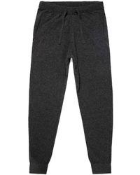 Sunspel Men's Lambswool Knitted Lounge Pants In Charcoal Melange - Gray