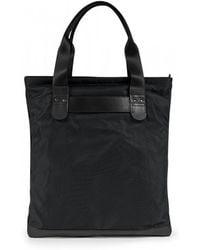 Sunspel - Leather / Nylon Tote Bag In Black - Lyst