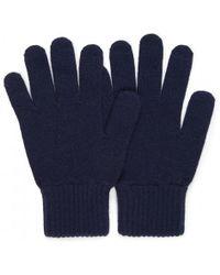 Sunspel - Women's Cashmere Gloves In Navy - Lyst