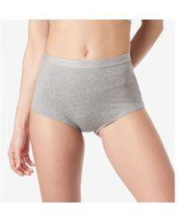 Sunspel - Women's Gym Pant In Stretch Cotton In Grey Marl - Lyst