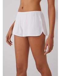 Sunspel Women's Cellular Cotton French Knickers In White