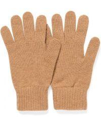 Sunspel Cashmere Gloves In Camel - Natural