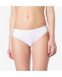Sunspel - Women's Sea Island Cotton Briefs In White - Lyst