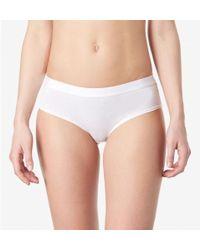 Sunspel - Women's Hipster Brief In Stretch Cotton In White - Lyst