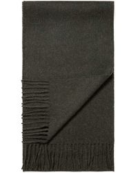 Sunspel Lambswool Woven Scarf In Military Green