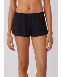 Sunspel - Women's Cellular Cotton French Knickers In Black - Lyst