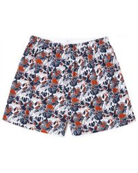 Sunspel - Men's Printed Cotton Boxer Shorts In Christmas Print - Lyst