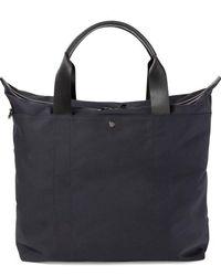 Sunspel Showerproof Tote Bag In Navy - Blue