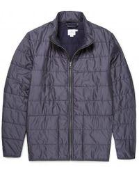 Sunspel - Men's Zip Through Quilted Jacket In Light Navy - Lyst